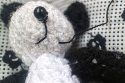 How to make a bear plushie. Amigurumi Panda Cub - Step 8
