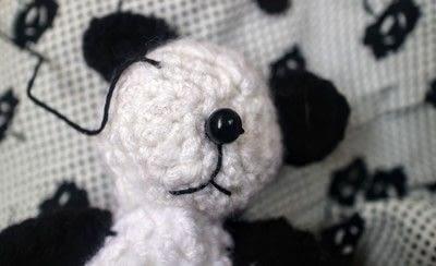 How to make a bear plushie. Amigurumi Panda Cub - Step 9