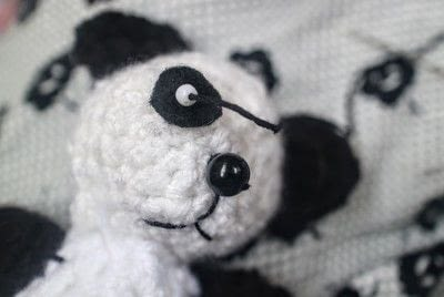 How to make a bear plushie. Amigurumi Panda Cub - Step 10