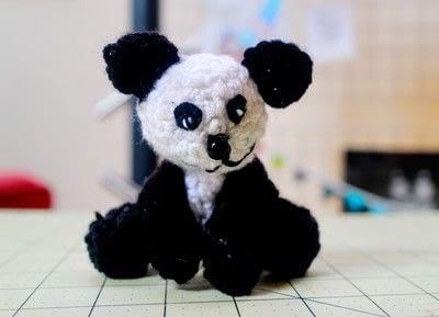 How to make a bear plushie. Amigurumi Panda Cub - Step 11