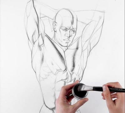 How to draw a charcoal drawing. Using Charcoal Powder to Shade a Drawing - Step 2