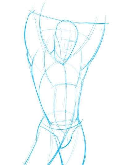 How to make a drawing. How To Draw And Shade The Human Torso - Step 3