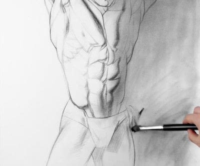 How to make a drawing. How To Draw And Shade The Human Torso - Step 9