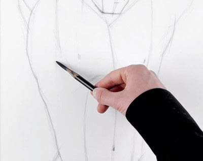 How to make a drawing. How To Draw And Shade The Human Torso - Step 6