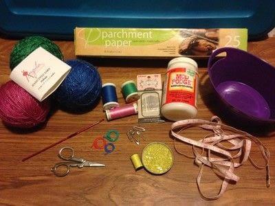 How to crochet a bookmark. Crochet Flower Bookmark - Step 1
