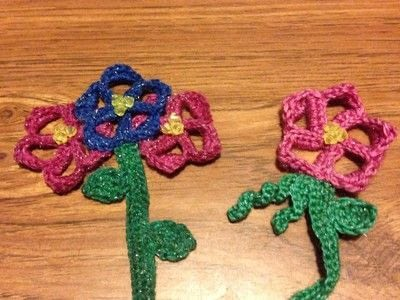 How to crochet a bookmark. Crochet Flower Bookmark - Step 5