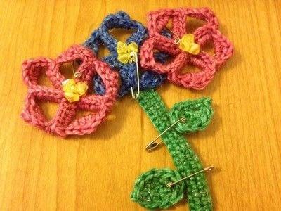 How to crochet a bookmark. Crochet Flower Bookmark - Step 7