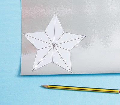 How to make a garland. Scored Stars - Step 1