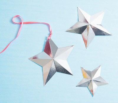 How to make a garland. Scored Stars - Step 6