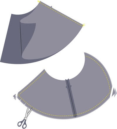 How to sew a hand sewn dress. Peplum Dress - Step 3