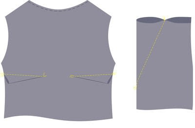 How to sew a hand sewn dress. Peplum Dress - Step 4