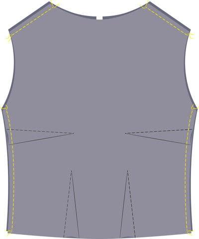 How to sew a hand sewn dress. Peplum Dress - Step 6