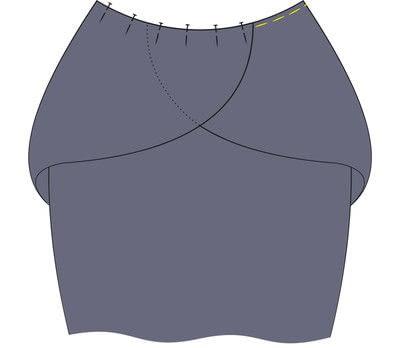 How to sew a hand sewn dress. Peplum Dress - Step 9