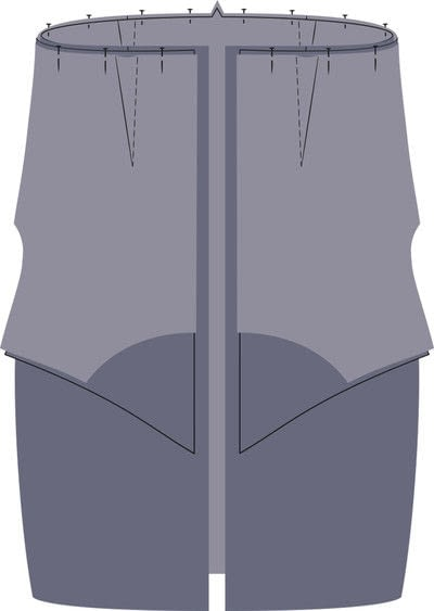 How to sew a hand sewn dress. Peplum Dress - Step 10