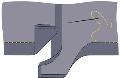 How to sew a hand sewn dress. Peplum Dress - Step 21