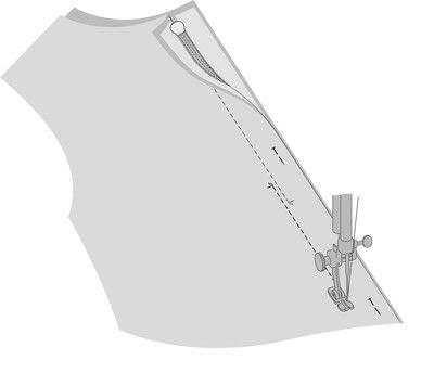 How to sew a hand sewn dress. Peplum Dress - Step 30