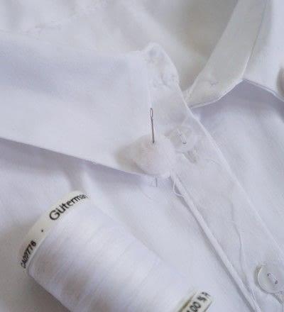 How to make a shirt collar. Pom Pom Collar - Step 3