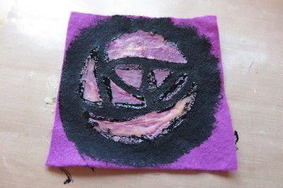 How to sew a fabric coaster. Glasgow Rose Coasters - Step 4