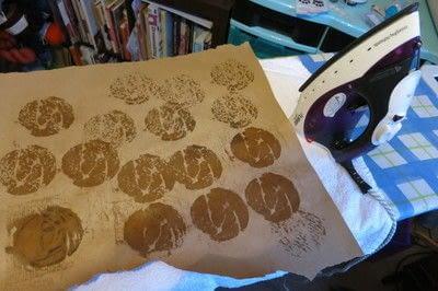 How to sew a fabric coaster. Glasgow Rose Coasters - Step 6