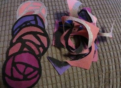 How to sew a fabric coaster. Glasgow Rose Coasters - Step 7