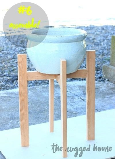 How to make a vase, pot or planter. West Elm Inspired Plant Stand  - Step 6