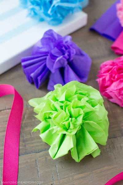 tissue paper flower bouquet canvas  u00b7 how to make wall