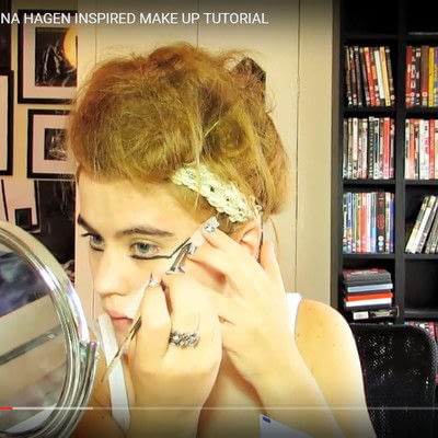 How to create a dramatic eye makeup look. Theatrical Punk Girl: Nina Hagen Inspired - Step 1