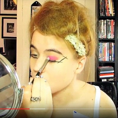 How to create a dramatic eye makeup look. Theatrical Punk Girl: Nina Hagen Inspired - Step 2