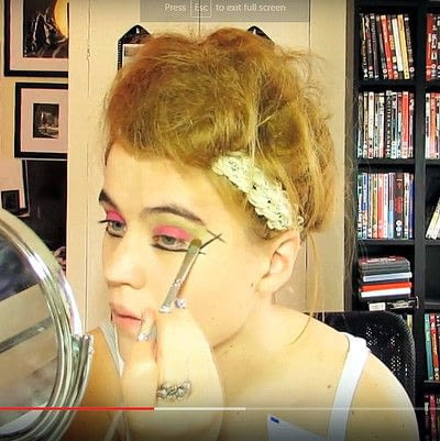 How to create a dramatic eye makeup look. Theatrical Punk Girl: Nina Hagen Inspired - Step 3