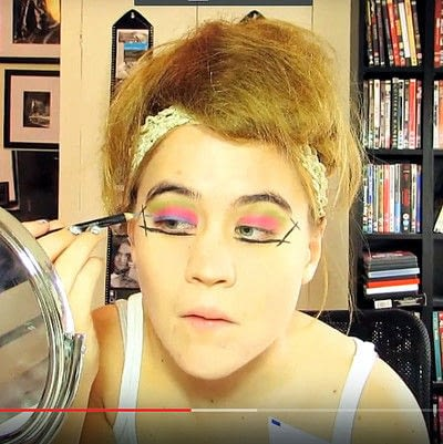 How to create a dramatic eye makeup look. Theatrical Punk Girl: Nina Hagen Inspired - Step 4