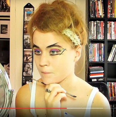 How to create a dramatic eye makeup look. Theatrical Punk Girl: Nina Hagen Inspired - Step 5