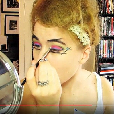How to create a dramatic eye makeup look. Theatrical Punk Girl: Nina Hagen Inspired - Step 6