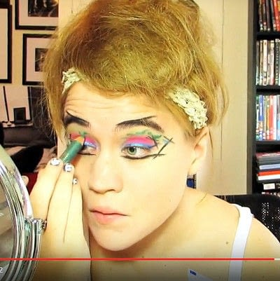 How to create a dramatic eye makeup look. Theatrical Punk Girl: Nina Hagen Inspired - Step 7