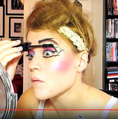 How to create a dramatic eye makeup look. Theatrical Punk Girl: Nina Hagen Inspired - Step 9
