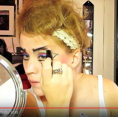 How to create a dramatic eye makeup look. Theatrical Punk Girl: Nina Hagen Inspired - Step 10