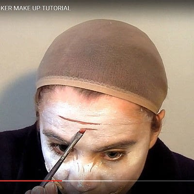 How to create a face painting. Why So Serious? Dark Knight's Joker Make Up Tutorial - Step 3
