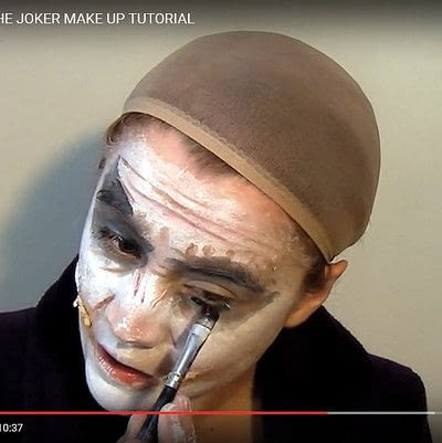 How to create a face painting. Why So Serious? Dark Knight's Joker Make Up Tutorial - Step 4