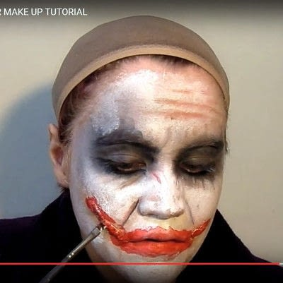 How to create a face painting. Why So Serious? Dark Knight's Joker Make Up Tutorial - Step 5