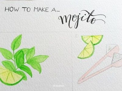 How to paint a piece of watercolor art. Recipe Illustration : How To Make A Cocktail - Step 4