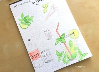 How to paint a piece of watercolor art. Recipe Illustration : How To Make A Cocktail - Step 5
