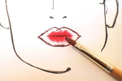 How to paint an ombre lip. Ombre Red Lips - Step 3