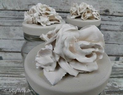 How to mold a clay flower. Plaster Of Paris Flowers - Step 5