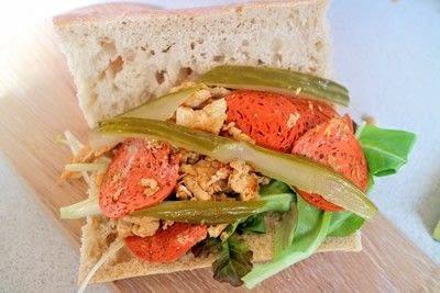 How to cook a Bánh Mì sandwich. Pickle & Omelette Bánh Mì - Step 5