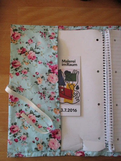 How to make a fabric book cover. Fabric Folder - Step 7