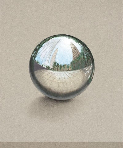 How to draw a 3D drawing. How To Draw A Chrome Sphere - Step 7