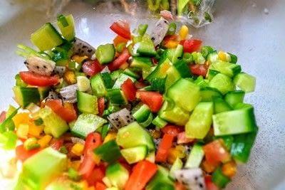 How to make a salsa dip. Dragonfruit Salsa - Step 3