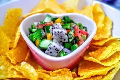 How to make a salsa dip. Dragonfruit Salsa - Step 5