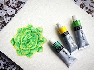 How to paint a piece of watercolor art. Watercolor Succulent Tutorial - Step 9