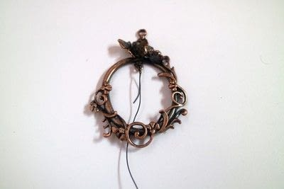 How to make a dream catcher pendant. Fairy Catcher Necklace - Step 2