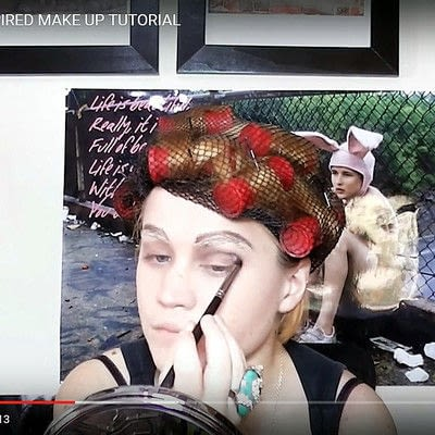 How to create a pin-up makeup look. Warhol Superstar Candy Darling Inspired Make Up - Step 7